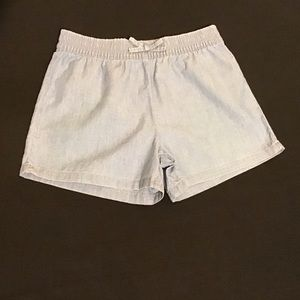 Carter's Kid Chambray pull on twill Shorts SZ 7